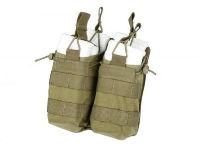 TMC Open Top Magazine Pouch Double ( Khaki )
