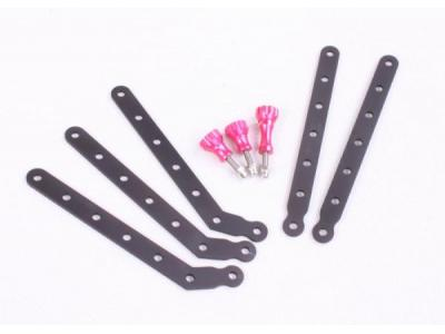 TMC CNC Aluminum Arms and Screw for Gopro HD Hero3 ( Pink )