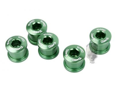 TMC 5pcs Aluminum Crankset Bolts Screws ( Green )