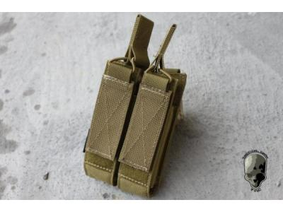 TMC MOLLE Double Open Top Mag Pouch for MP7 ( Khaki )