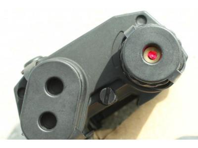 TMC AN/PEQ-15 Battery Case with Red Laser Sight ( BK )