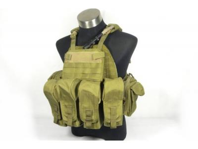 TMC PI style Lightweight Plate Carrier ( Khaki 9 pouches )