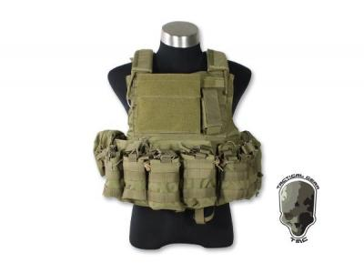 TMC CIR Force Recon Vest Ver Land w/ 8 pouch ( Khaki )
