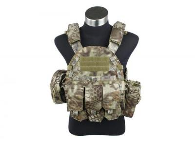TMC 6094 style Plate Carrier w 3 pouches ( MAD )