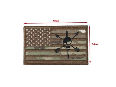 TMC 13* 7.5 Patch ( USA Skull Flag Multicam )